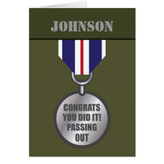 Passing Out Parade, British Army Medal Congrats Card