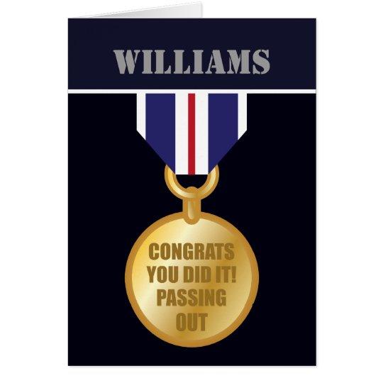 Passing Out Parade, British Naval Medal Congrats Card