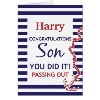Passing Out Parade British Navy Anchor Congrats Greeting Card