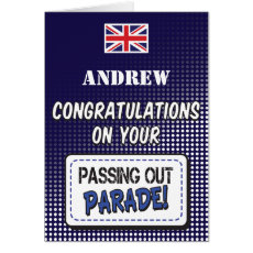 Passing Out Parade, British Navy Fun Congrats Card