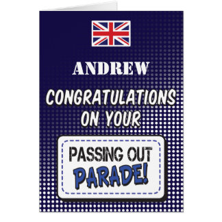 Passing Out Parade, British Navy Fun Congrats Greeting Card