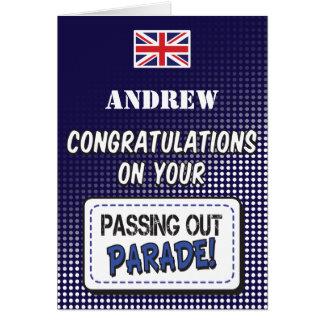 Passing Out Parade, British Navy Fun Congrats Greeting Card