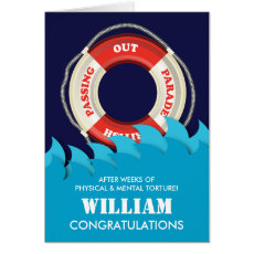 Passing Out Parade British Navy Lifebelt Congrats Card