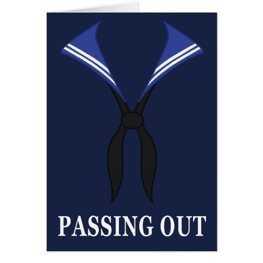 Passing Out Parade British Navy Uniform Congrats Card