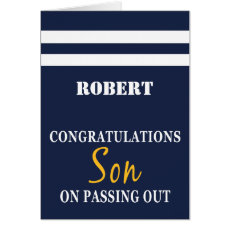 Passing Out Parade British Navy Uniform Congrats Card