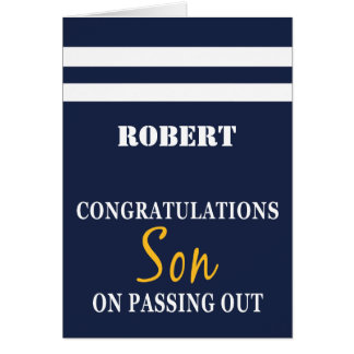 Passing Out Parade British Navy Uniform Congrats Greeting Card