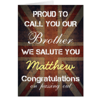 Passing Out Parade Brother Salute You Congrats Greeting Card