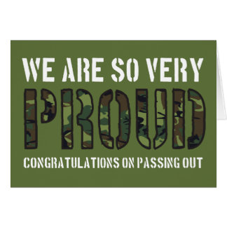 Passing Out Parade Camo Proud British Army Card