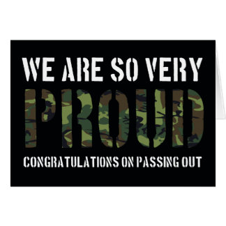 Passing Out Parade Camo Proud British Army Greeting Card