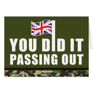 Passing Out Parade Camouflage British Army Card