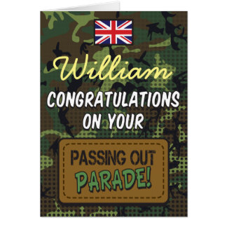 Passing Out Parade Camouflage Comic Strip Congrats Card