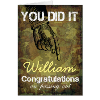 Passing Out Parade Camouflage You Did It Congrats Greeting Card