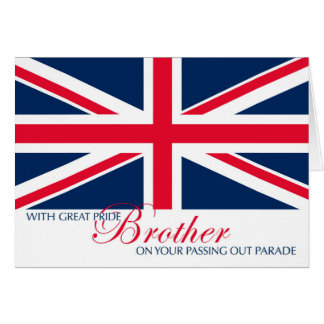Passing Out Parade Congratulations for Brother Greeting Card