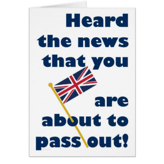 Passing Out Parade Congratulations Fun Union Jack Greeting Card