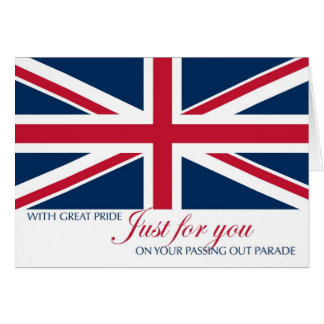 Passing Out Parade Congratulations Union Jack Greeting Card