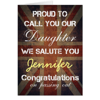 Passing Out Parade Daughter Salute You Congrats Card