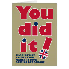 Passing Out Parade Fun British Mod Design Card