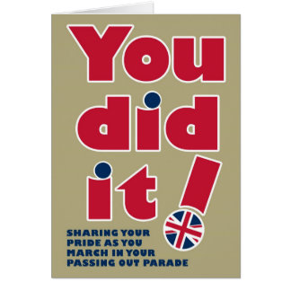 Passing Out Parade Fun British Mod Design Greeting Card