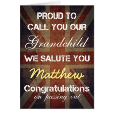 Passing Out Parade Grandchild Salute You Congrats Card