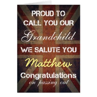 Passing Out Parade Grandchild Salute You Congrats Card