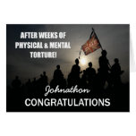 Passing Out Parade Marching Flag Congrats Greeting Card