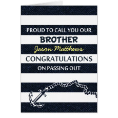 Passing Out Parade Navy Sailor Brother Congrats Card