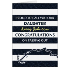 Passing Out Parade Navy Sailor Daughter Congrats Card