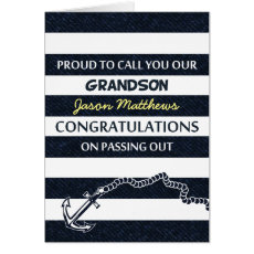 Passing Out Parade Navy Sailor Grandson Congrats Card