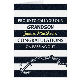 Passing Out Parade Navy Sailor Grandson Congrats Greeting Card