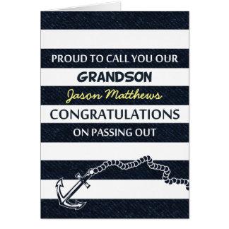 Passing Out Parade Navy Sailor Grandson Congrats Greeting Card