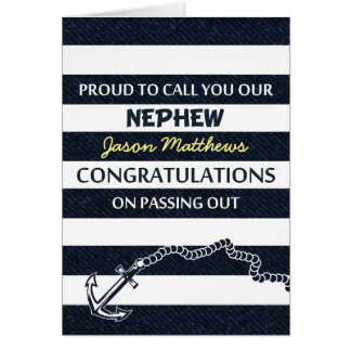 Passing Out Parade Navy Sailor Nephew Congrats Greeting Card