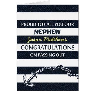 Passing Out Parade Navy Sailor Nephew Congrats Greeting Card