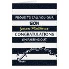 Passing Out Parade Navy Sailor Son Congrats Card