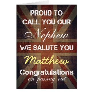 Passing Out Parade Nephew Salute You Congrats Card