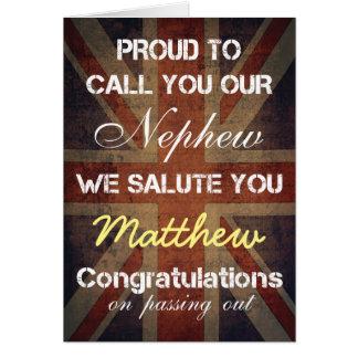 Passing Out Parade Nephew Salute You Congrats Card