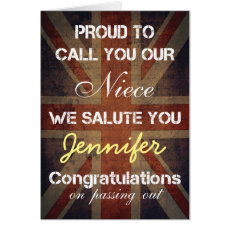Passing Out Parade Niece Salute You Congrats Card