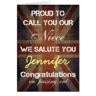 Passing Out Parade Niece Salute You Congrats Greeting Card