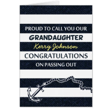 Passing Out Parade Sailor Grandaughter Congrats Card