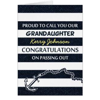 Passing Out Parade Sailor Grandaughter Congrats Card