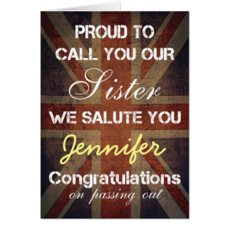 Passing Out Parade Sister Salute You Congrats Card