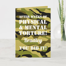 Passing Out Parade | Soldier Camoflauge Card