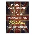 Passing Out Parade Son Salute You Congrats Card