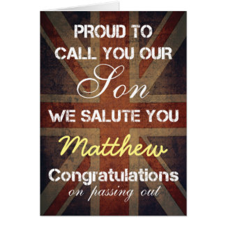 Passing Out Parade Son Salute You Congrats Greeting Card