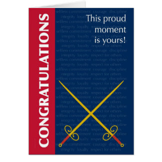 Passing Out Parade Swords and Army Values Card