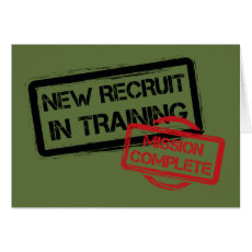 Passing Out Parade Training Complete British Army Card