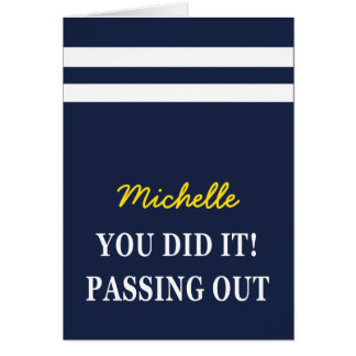 Passing Out Scarf British Navy Congratulations Card