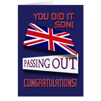 Passing Out, You Did It Son! Congratulations Greeting Card