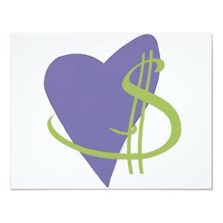 Passion2Pension Heart 11 Cm X 14 Cm Invitation Card
