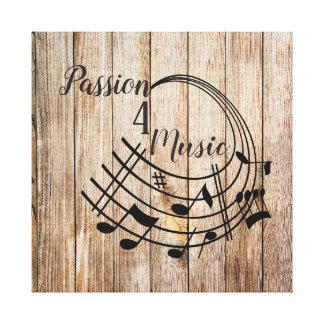 Passion 4 Music Canvas Print