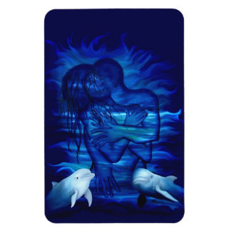 Passion act - pair with Dolphin pair Rectangular Photo Magnet